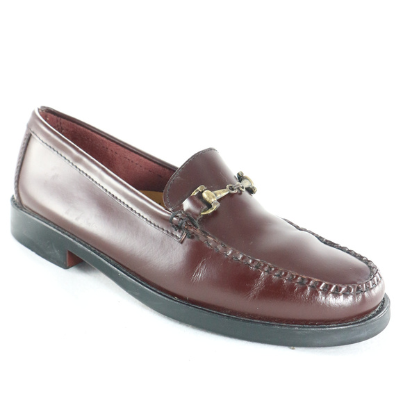 c47fed073cf59 BASS Weejuns Yale Mahogany Brown Moc Toe Loafers